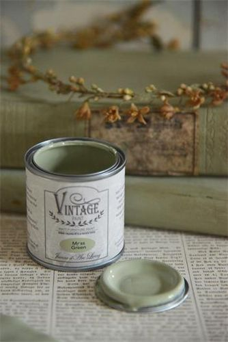 Jeanne d'Arc Living Vintage Paint Kalkfarbe Moss Green 100 ml