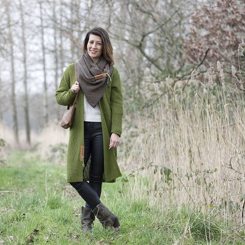 NEW * Knit Factory - Luna Strickjacke in Olive - Größe 36-38