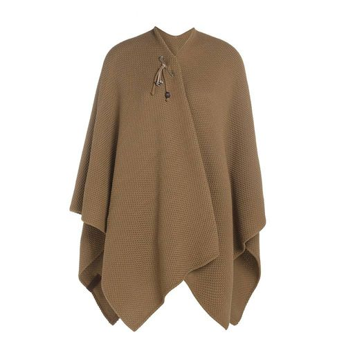 NEW * Knit Factory -Jazz Poncho Cape in New Camel mit Nadel