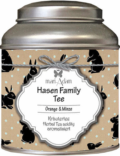 PRE ORDER * MariAdam - Kräutertee Hasen Family Tee Orange & Minze